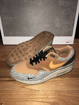 low priced cde5a c8ce3 RARE Nike Air Max 1 B Safari Mens Size 10.5 Flax Tenn Orange Chestnt 302740  281
