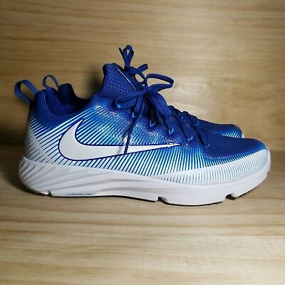 f35dff5d2a Nike Lacrosse Turf Shoe 856542 414 Rush Blue White Vapor Speed Retail $120