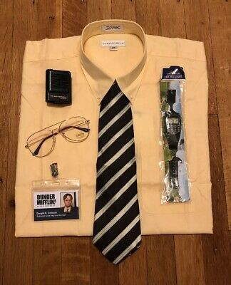 Dwight Schrute Dunder Mifflin Costume from The Office: Size XL