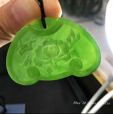 54.5mm collect China natural Hetian Jasper Jade Hand-carved Pendant jewelry HSBS