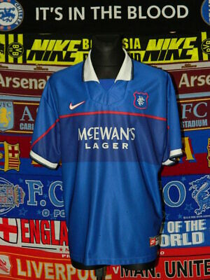 3/5 Rangers adults XXL 1997 home football shirt jersey trikot soccer