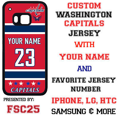Washington Capitals Personalized Hockey Jersey Phone Case Cover for iPhone etc.