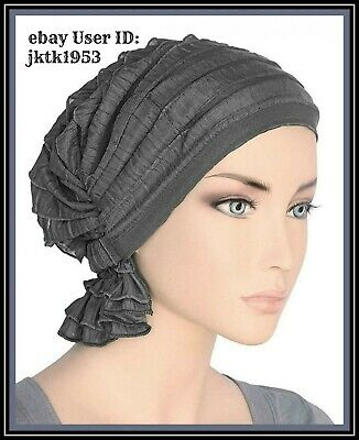 Turban Plus The Abbey Cap in Ruffle Fabric Chemo Caps Cancer Hats for Women  New fc4813b1c04b