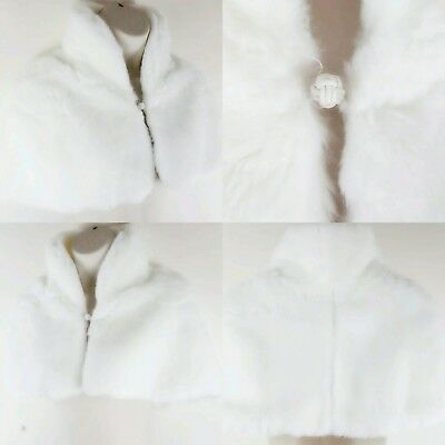 Debut Ivory Faux Fur Shrug Bridal Bridesmaid Communion Occasion One Size