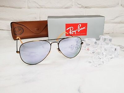 8237560843706 Ray-Ban RB3025 167 4K Bronze Copper Aviator Sunglasses 58mm Lilac Mirror  Lens