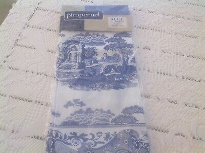 Spode  Pimpernel Blue Italian Set Of 4 Cotton Napkins