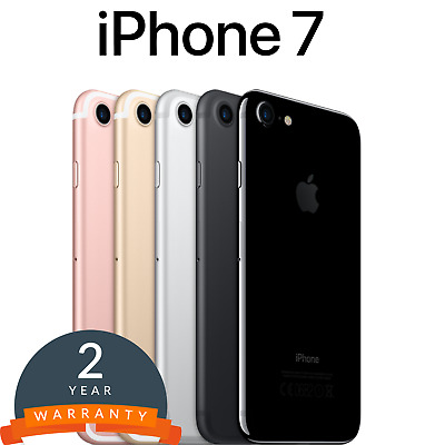 Apple iPhone 7 32GB/128GB/256GB in Black/Gold/Silver/Rose/Jet Black Unlocked