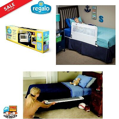 "43 "" Regalo Hide Away Bed Rail Crib Toddler Elderly Child Baby Safety Net Guard"