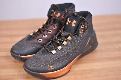342e8cd08c78 New Under Armour Curry 3 Basketball Shoes Black Copper 1299665-001 Men s 8