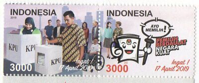 Indonesia 2019-1 General Election Set Stamps Mnh