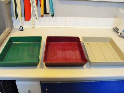 6 Photax processing trays in 5x7 and 8x10 size