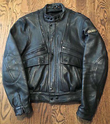 75b3ab08d VINTAGE HEIN GERICKE Size 46 Leather Armored Motorcycle Riding ...