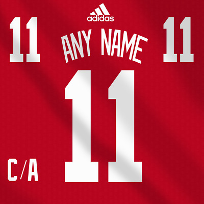 48f3cf14b Detroit Red Wings Adidas Jersey Custom Any Name Any Number Pro Lettering Kit