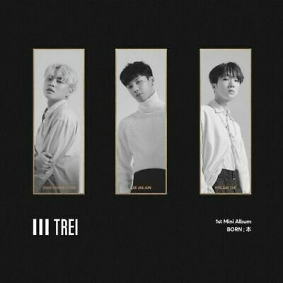 TREI [BORN;本] 1st Mini Album CD+P.Book+Calendar+Tag+Sticker+P.Card + Gift K-POP