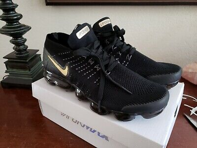 Nike Air Vapormax Flyknit 2 Black, Grey and Gold Men's 10