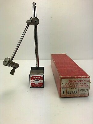 Starrett No. 657AA magnetic base With Original Box