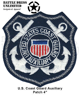 "US Coast Guard Auxiliary (Blue) Felt Patch, 4"" (USCG)"