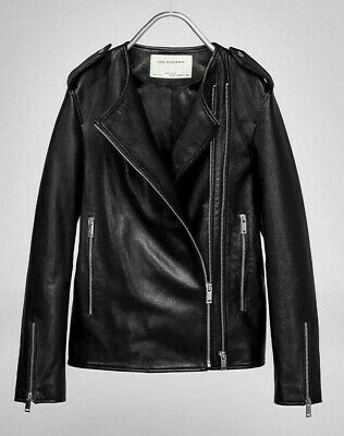 bf2563270fb ZARA STUDIO Black Leather Biker Jacket Size XS S 10 12 BNWT RRP £189  Oversized