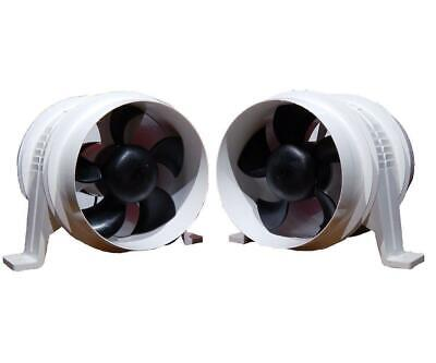 "Set of 2 - Attwood Turbo 4000 - 4"" Electric In-line Blower for Boats & RVs (BC-2"