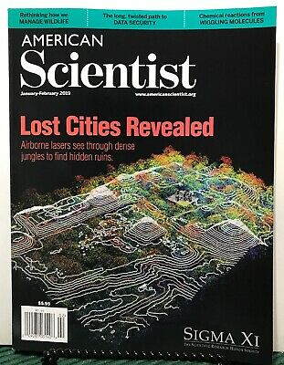 American Scientist Lost Cities Revealed January/February 2019 FREE SHIPPING JB