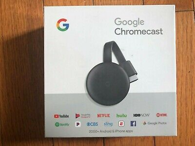 BrandNew Factory seal Google Chromecast 3rd Gen Streaming Media Player -Charcoal