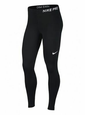 Womens Nike Pro Tights Training Long 889561-010 Black White Brand New Size L 83ab5a6068