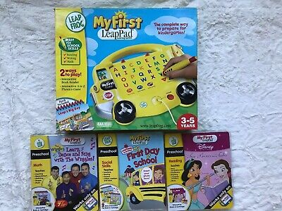 Leap Frog My First Leap Pad Learning System Plus 3 Cartridges