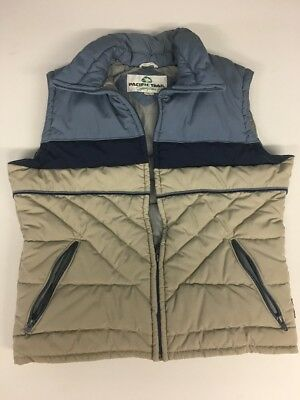 Vintage 70s / 80s quilted puffer vest americana mid-century workwear L