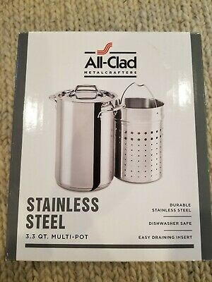 NEW All-Clad Metalcrafters Stainless Steel 3.3 Qt. Multi-Pot