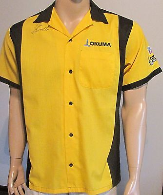 Hilton Bowling Retro, Okuma Nhra Button Front Signed Shirt Small 50/50 Free Ship