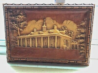 Vintage 1950s Mount Vernon The Home of Washington 3D Raised Resin Wall Plaque