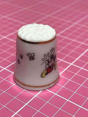 Disney Thimble Mickey Being Chased By Bees