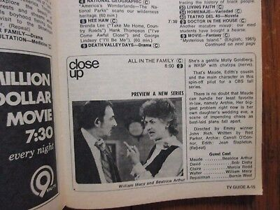 July 8-1972 TV Guide(MAUDE PILOT/DOCTOR IN THE HOUSE/SUSAN SULLIVAN/MERV GRIFFIN