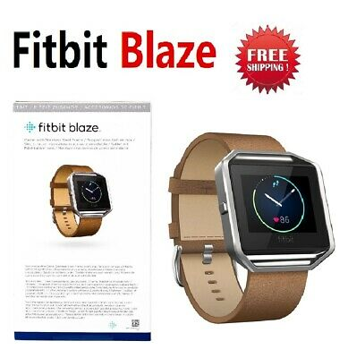 Fitbit Blaze Smart Fitness Watch FB502 Brown Camel Leather Arm Band Small Large