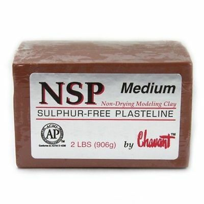 Chavant NSP Medium - Non Sulfur Based Fine Sculpting Clay - BROWN