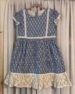 Mini Boden Girls Vintage Cotton Dress Size 9 10 Y New Nwt 25 99