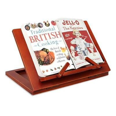 Wooden Folding Reading Book Holder Book Stand Notebook Tablet Bracket Menu Rack