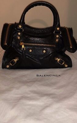 c2fd1f1fee6 AUTHENTIC BALENCIAGA AGNEAU Giant 12 Gold Mini City Black - $750.00 ...