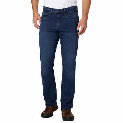 """Men's Urban Star RELAXED FIT STRAIGHT LEG JEAN 2-Way Stretch 2"""" Loop BLUE"""