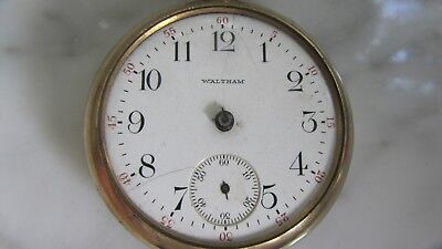 Antique U.S.A. made 1904 Waltham pocket watch 20 year Gold Filled case 15 Jewels