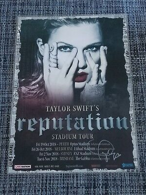 Taylor Swift - 2018 Australia Tour Poster - Signed Autographed - Laminated