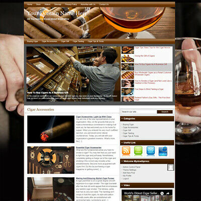Online Cigar Affiliate Business Website For Sale! Working & Earn Money At Home!