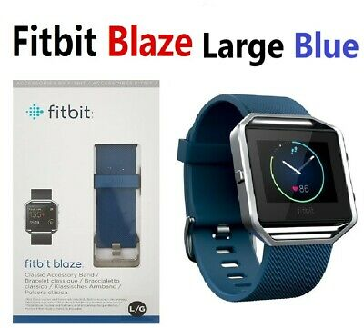 Fitbit Blaze FB502 Smart Fitness Watch Smartwatch Activity Tracker Blue Large