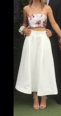 Formal, Wedding, Bridesmaid, long ivory Skirt, Size Small
