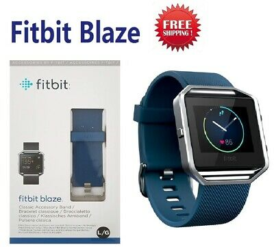 Fitbit Blaze FB502SBK Fitness Watch Smartwatch Activity Tracker Blue Small Large