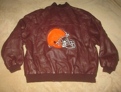 Carl Banks G-III Cleveland Browns Genuine Leather Jacket Men s XL NFL  Football 947e82b61