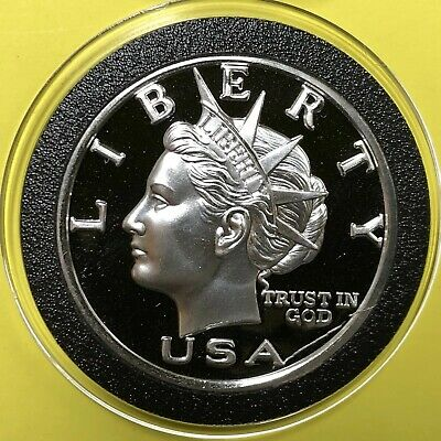2000 NORFED Liberty Head 1 Troy Oz .999 Fine Silver Coin Round Proof Medal 999
