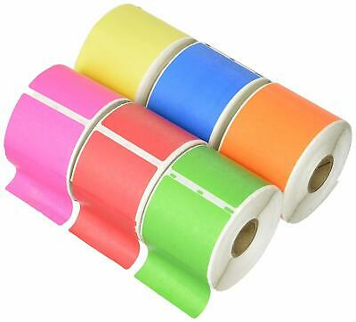 "6 Rolls 2-5/16""x4"" 6 Colors Dymo Compatible 30256 Shipping Labels (2.312x4)"
