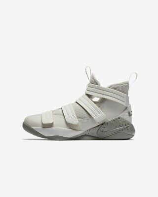 ba546a49b21f Nike LeBron Soldier XI Size 7Y Light Bone Dark Stucco Grade School  918369-099