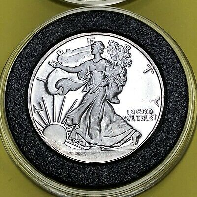 Walking Liberty Great America Mint 1/2 Troy Oz .999 Fine Silver Coin Round Medal